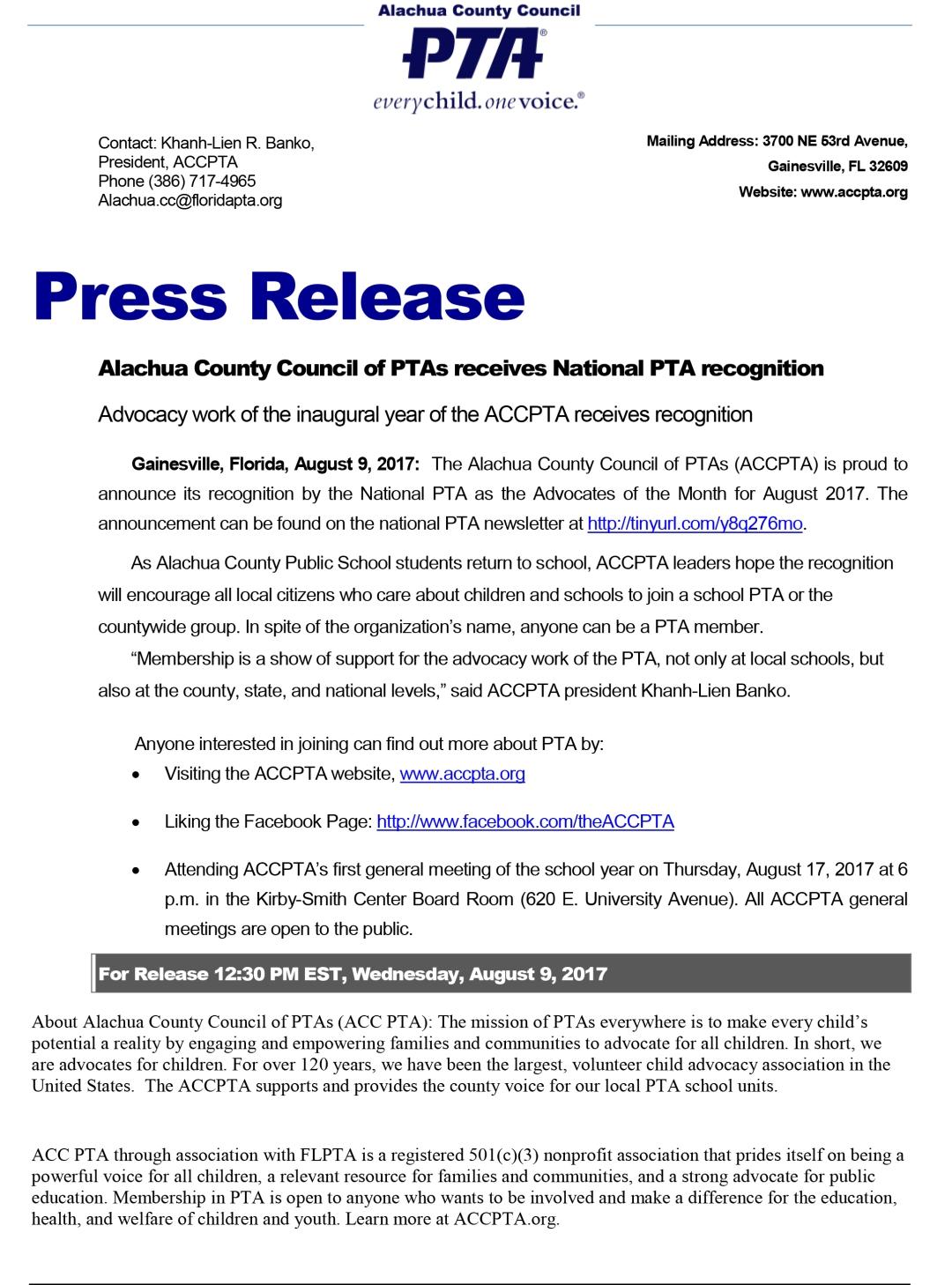 Press release (Professional design)